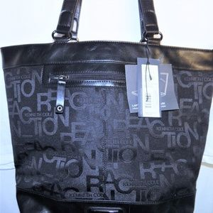 Black Bag Tote P.C.Case K.Cole Reaction Travel Nwt
